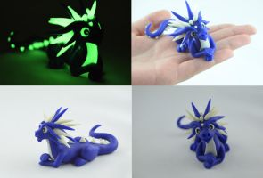 dark blue glow in dark dragon by claymeeples