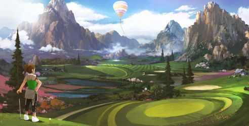 golf concept by artcobain