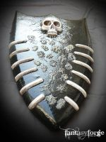 LARP shield: Necro shield by FantasyForgeLARP