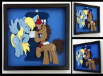 Shadowbox:  Derpy and Doctor Whooves by The-Paper-Pony
