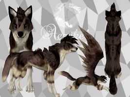 Winged Brown Wolf Preset Auction (Closed) by Aezekel