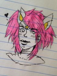 doodling my homie Lux by somber-cat
