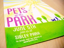 Pets in the Park - poster design by akuinnen24
