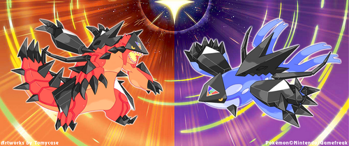 Necrozma Infection : Groudon and Kyogre by Tomycase