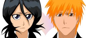 Ichigo and Rukia by AfterGlowOfRain