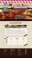 PSD Template - The Little Cupcake Catering by odindesign