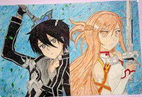 Asuna and Kirito by Chaos-Angel142