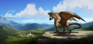 Watcher over the hill by Noxaunu