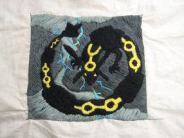 Rayquaza Pillow WIP 3 by RaivenWings