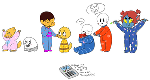 Undertale Babies by v0nnie
