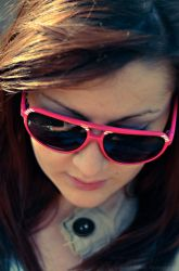 pink glasses by AReYco
