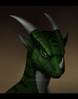 [COMM] Dragon Portrait by VictoriaDAEDRA