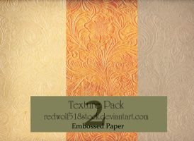Embossed Paper Texture Pack 2 by redwolf518stock