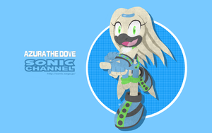 Azura the Dove Sonic Channel Style 2017 by BrenToDaBrens