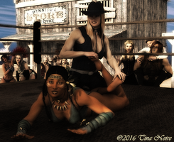 Cowgirl vs Indian by TNoire