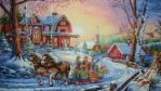 Sleigh Ride cross stitch by Anim-Soul