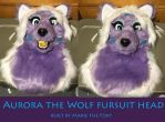 Aurora the Wolf Fursuit head :3 by PudgeyRedFox
