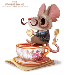 Daily Paint 2131. Mousetache by Cryptid-Creations