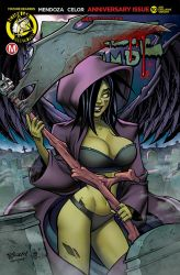 Zombie Tramp 50 AOD Exclusive Cover by BillMcKay