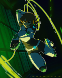 Pidge in Attack! by SolKorra