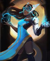 Symmetra Blue and Gold by Jasamo