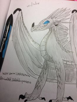 Alaska (IceWing and SkyWing hybrid) by DehketchupArceus