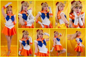 Sailor Venus Cosplay Collage by AmmieChan