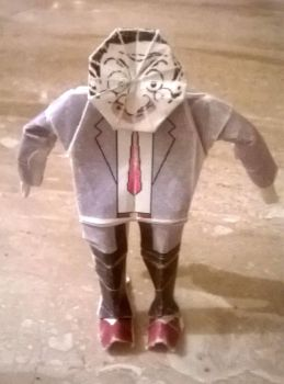 Origami Mr. Bean by WilliamClinch