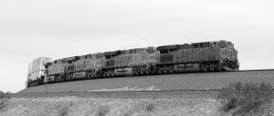 BNSF 7450 at the Siberia curves by photogatlarge