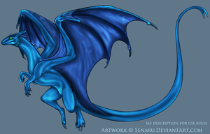 Remade Pernese Dragon COLOR ME by Senaru