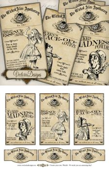 Instantdownload explore instantdownload on deviantart vectoriadesigns 51 0 alice in wonderland apothecary labels by vectoriadesigns pronofoot35fo Gallery