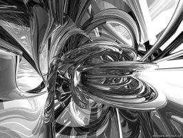 Silver Abstract by VickyM72