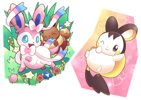 TCG Edits: Sylveon and Emolga