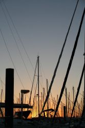 Sunset in a port 1 by Owps