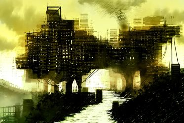 Industrial Landscape by Sulphar-Fire