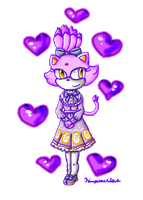 cute purple cat by ninpeachlover