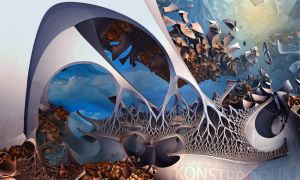 Strange Attractor Woodlands and Spinal Orchid Sky by MANDELWERK