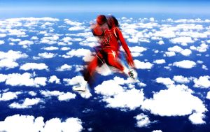 MJ over clouds by dre1184