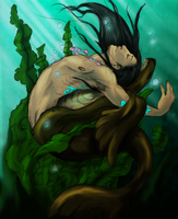 Selkie by Xaotl and Phin by Phoenix-Cry