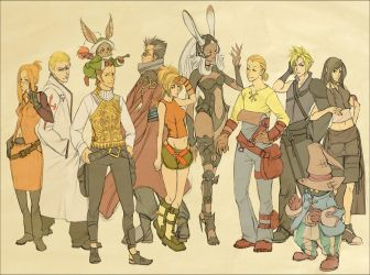 Final Fantasy Line-up by doven