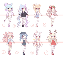 [OPEN 2/8] random adopt batch 2 by Seraphy-chan