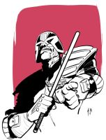 Judge Dredd is talking to you by A-Muriel