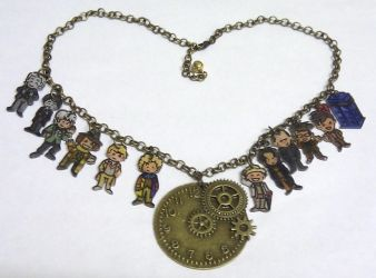 Kawaii Doctor Who Timelords necklace by Lovelyruthie