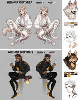 Werewolf Adoptables! AUCTION - OPEN by AMSBT