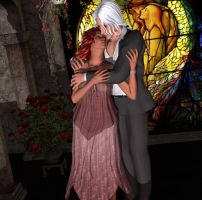 Couple by Stained Glass by DiannaSilver