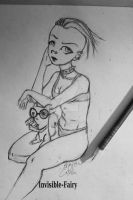 Germaine and  Pilz-E *Foamy the Squirrel* by BabyDeer-Draws