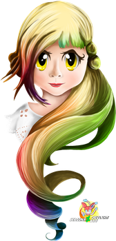 Colourful Girl by Stacona