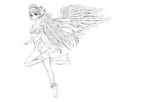 Winged One Lineart by denzleah