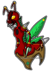 Attamon the Leaf Cutter Digimon by Inakamon