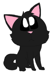 A black kitty by LisaDots123